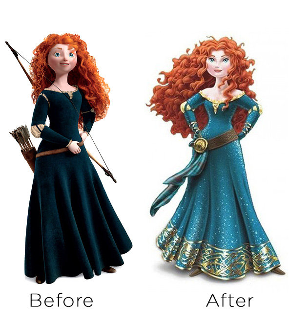 Merida the Disney Princess